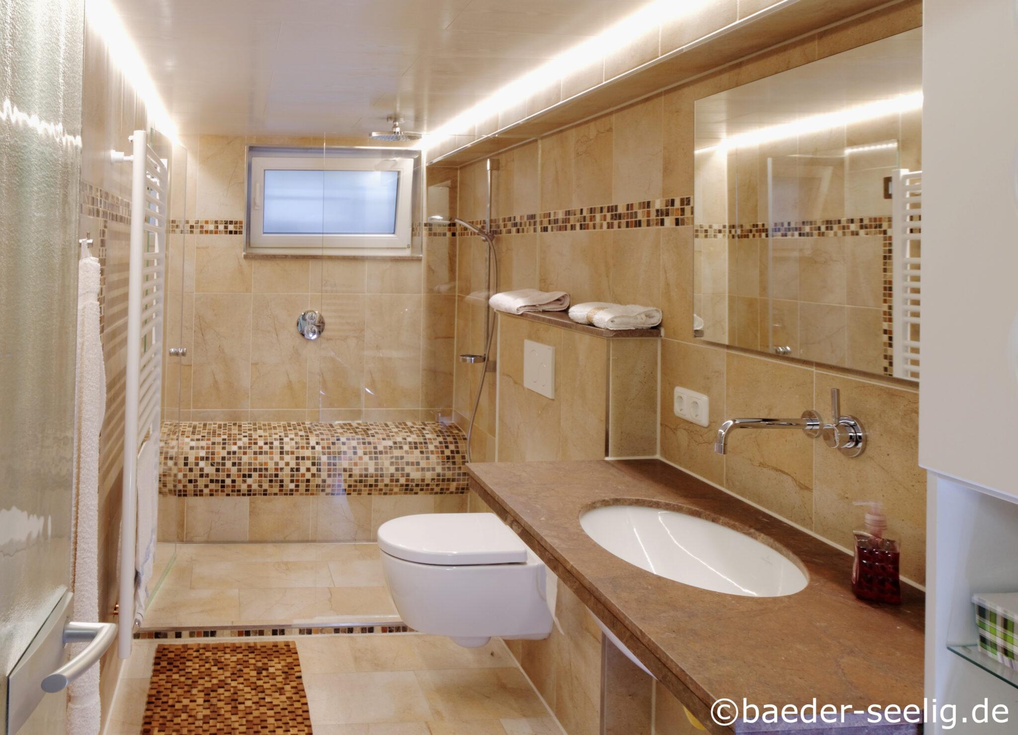 Schönes Keller Badezimmer in Hamburg. BÄDER SEELIG