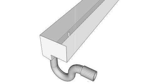 Die im bild gezeigte abflussvariante der v4a edelstahl-duschrinne pro ermoeglicht es, durch den seitlichen ablauf direkten anschluss an die fallleitung zu finden.
