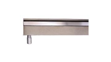 Dargestellt ist eine V4a edelstahl-duschrinne pro mit seitlichem waagerechten ablauf.